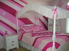 Home Interior, Girl's Room Paint Ideas – How to Cheer Up Girl's Room: Joyful Accent Wall Design Ideas
