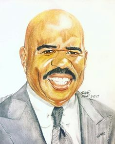 4aa7b9e70 This is my recent drawing I did of the wonderful Steve Harvey!!! Steve