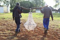 12 years ago, South African artist Merewyn De Heer and her righthand lady, Nozi, started making clay beaded chandeliers in a small rural community in South Africa. The chandeliers were beautiful an...