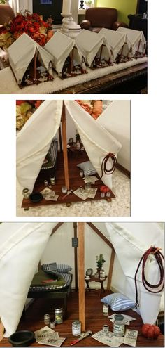 Love this cute camping tent idea! :)