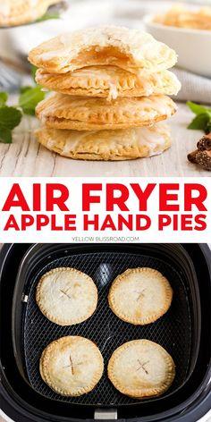 Air Fryer Recipes Dessert, Air Fryer Oven Recipes, Air Frier Recipes, Best Apple Recipes, Mini Pie Recipes, Apple Hand Pies, Mini Apple Pies, Air Fryer Cooking Times, Air Fried Food