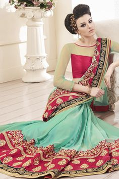 Buy This Light Green-Pink Metal Chiffon Heavy Zari Embroidery Work Designer Party Wear Saree. Buy Now:- http://www.lalgulal.com/sarees/light-green-pink-metal-chiffon-heavy-zari-embroidery-work-designer-party-wear-saree-716 Cash On Delivery & Free Shipping only in India.For Other Query Just Whatsapp Us on +91-9512150402 Or Mail Us at info@lalgulal.com.