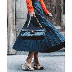 Midi Skirt & Sweater on #CollageVintage.com