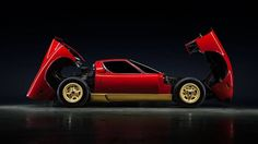 Lamborghini Miura stays golden at Amelia Island Concours - http://autonewshall.com/lamborghini-miura-stays-golden-at-amelia-island-concours/