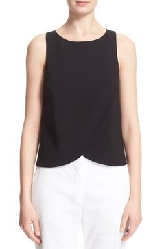 Theory 'Mintorey' Sleeveless Crepe Shell available at #Nordstrom