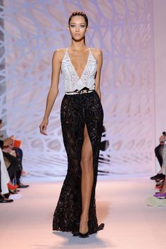 Stunning monochrome by Zuhair Murad couture fall 2014 #Welovedresses #Matricdancedresses #TheAmandaFerriShowroom