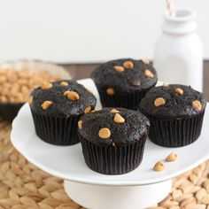 Cocoa Banana Muffins with Peanut Butter Chips | Flickr - Photo Sharing!