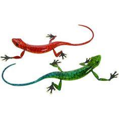 Decmode Metal Lizard, Multi Color, Multicolor