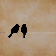 Birds On A Wire Painting - Birds On A Wire Fine Art Print