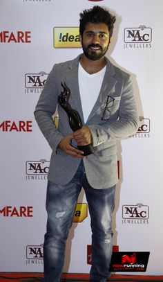Nivin Pauly at 61st Idea Filmfare South Awards 2013