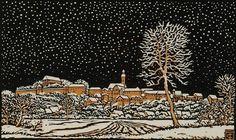 Winter in the Village Thiemann