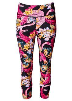 The Matthew Williamson Flamingo Print Capri Leggings