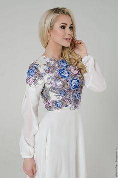 be79cd034bf256 Вишиті плаття · Купить Платье белое летнее, платье длинное в пол