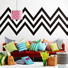 I really the like chevron pattern...great pop of pattern and color!  Just maybe not quite this much in one place