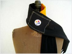NEW....Pittsburgh Steelers T Shirt Scarf for Him or Her / by ohzie http://pinterest.com/hamptoninnmonro/ #hamptoninnmonroeville http://www.facebook.com/#!/HamptonInnMonroeville #pittsburghhotel