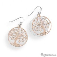 Two Tone Tree Earrings