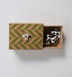 Cow Polymer Clay Earrings Farm Animal Handmade by TessClayEarrings
