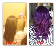 pravana purple hair! I love it and am so glad I did it!