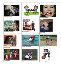 Action Pictures and Action Word Checklist  - Pinned by @PediaStaff – Please Visit  ht.ly/63sNt for all our pediatric therapy pins