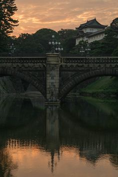 Nijubashi (Double Bridge) Bridge at the Imperial Palace in Tokyo