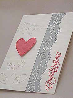 Image detail for -... Congratulation Handmade Card- Elegant Wedding Greeting Card