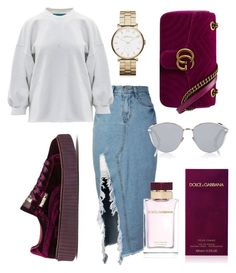 """#coffeebreak"" by jasminsangalyan on Polyvore featuring storets, Puma, Dolce&Gabbana, Christian Dior and Marc by Marc Jacobs"