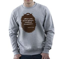 The Beard Collection Childhood Mens Sweatshirt -- You can find out more details at the link of the image.