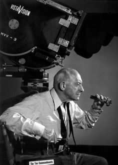 Cecil B. DeMille. He was the first master of big-budget event movies, with two Ten Commandments films and The Greatest Show on Earth.  I cannot imagine the power this man had in his day in Hollywood!