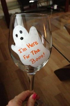 """I'm here for the boos""wine glass"