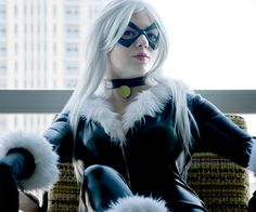 Spandex Black Cat Burglar Costume | DudeIWantThat.com (for my wife :p)