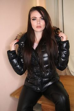Nylons, Black Down, Snow Suit, Quilted Jacket, Puffer Jackets, Moncler, Overalls, Leather Pants, Jackets For Women
