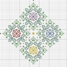 Blackwork with colors
