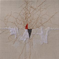 Broderie abstraite par Emily Barletta recent work — Bonnie Sennott Abstract Embroidery, Embroidery Applique, Embroidery Stitches, Embroidery Designs, Art Fibres Textiles, Textile Fiber Art, Textile Artists, Contemporary Embroidery, Modern Embroidery