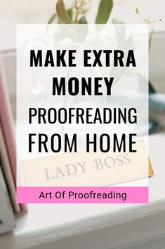 Make extra money proofreading and copyediting from home. Did you know you don't need a degree to work as a proofreader or copy editor? Make Money Fast, Make Money Blogging, Make Money From Home, Make Money Online, Online Income, Online Jobs, Copy Editor, Proofreader, Making Extra Cash