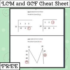 what is the relationship between lcm and gcf lessons