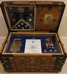 Army Navy Retirement Shadow Box ideas or Military Shadow box Idea as Air Force, Marine military retirement gift for him or her 540 659 6209 Military Box, Military Shadow Box, Military Gifts, Marine Military, Military Retirement Parties, Retirement Ideas, Retirement Gifts, Retirement Countdown, Diy Shadow Box