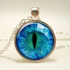 Dragon Eye Necklace Third Eye Jewelry Evil Eye Pendant by rainnua, $14.45