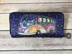 Hippie Peace Bus Road Trip Tapestry by Dan Morris 48x72
