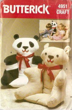 childs stuffed bear chair | BEAR CHAIR Animal ARMCHAIR child size stuffed chair sewing pattern ...