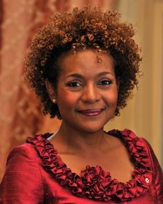 Michaëlle Jean 55 - former Governor General of Canada (27th) made history as the first governor general from the Caribbean and the first Black woman governor general. These days she has transitioned to her natural curlies.
