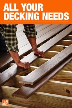 The Home Depot has everything you need for your home improvement projects. Click through to find all your deck and outdoor living needs. Home Improvement Companies, Home Improvement Projects, Backyard Projects, Outdoor Projects, Backyard Ideas, Diy Projects, Deck Flooring, Diy Deck, Deck Plans
