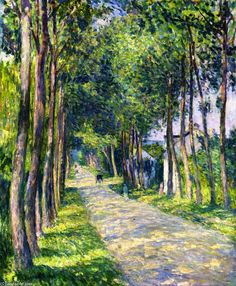 'Horse and Carriage on a Sunny Road', Oil On Canvas by Henri Lebasque (1865-1937, France)