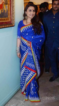 Rani Mukerji seen at the inauguration of art show - An Art Collector's Paradise - in Mumbai. #Bollywood #Fashion #Style #Beauty