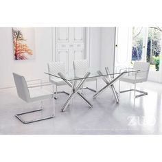 100190- Quilt Dining Chair White- Quilt dining chair offers a sleek modern canter leaver design with soft leatherette featuring quilted detailed upholstery to both plush seat and back design. Perfect for formal dining or accents for home or office. Color options are black and white.