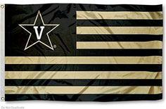 Vanderbilt Commodores Stars and Stripes Nation College Flag
