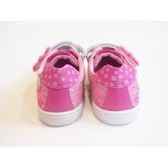 Girls Pink Canvas Pumps With Velcro Strap   152957