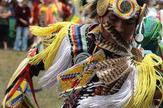 A Taos Pueblo dancer at the annual Taos Pueblo Powwow. Photo by Rick Romancito, The Taos News.