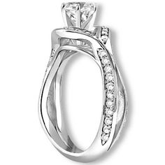 1.12 ctw 14k WG Natural I-J Color, VS - SI  Clarity, Accent Diamonds Engagement Ring http://www.pricepointshop.com/product.asp?idproduct=22367