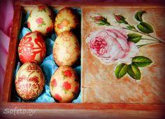 Πασχαλινά αυγά με την τεχνική του ντεκουπάζ ( Decoupage ), με δύο τρόπους!!! Egg Tree, Easter Colors, Happy Easter, Easter Eggs, Decoupage, Diy, Food, Decoration, Ideas
