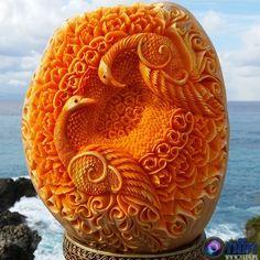 Rzeźba z dyni